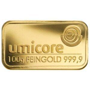 100 gram goudbaar kopen Umicore