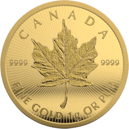 Gouden Maple Leaf munt 1 gram kopen
