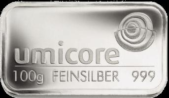 Umicore zilverbaar 100 gram kopen