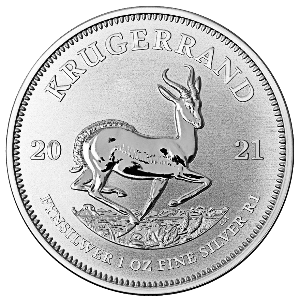 Zilveren krugerrand munt 2021 kopen