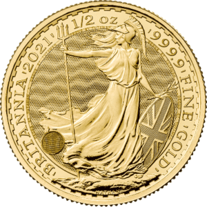 1/2 troy ounce gouden Britannia munt 2021