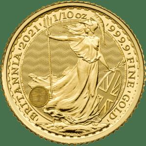 1/10 troy ounce gouden Britannia munt 2021