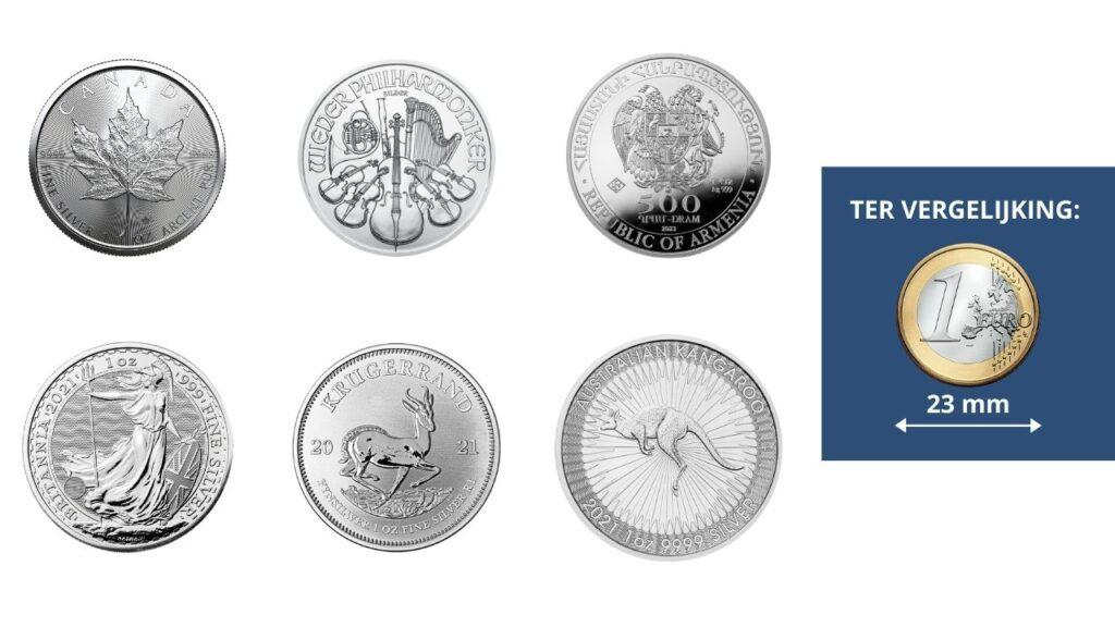 Zilveren munten kopen van diverse smelters