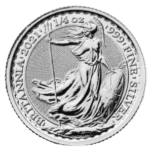 1/4 troy ounce zilveren Britannia munt